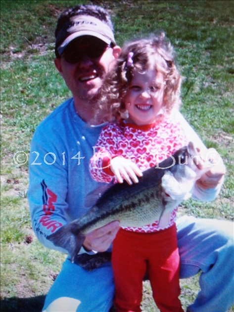 Father Daughter Bass Fishing - Priceless