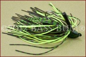 BOOYAH A-Jig - Black/Chartreuse