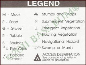 Lake Symbols Legend