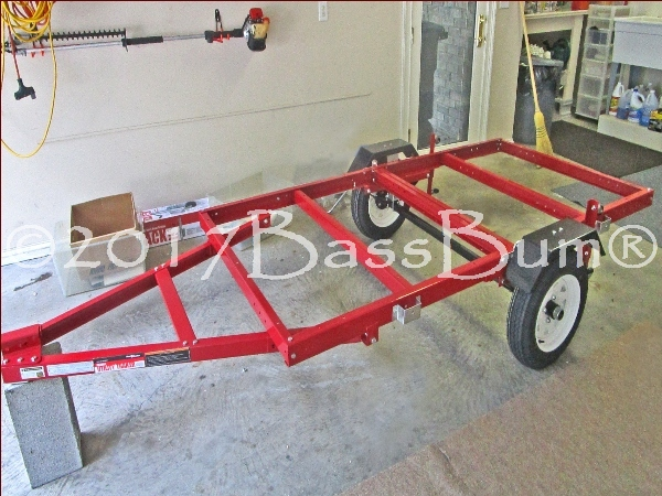 Foldable utility trailer before conversion