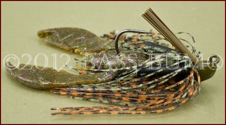 Pond Lure - Jig and Trailer - Orange/Brown