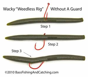 Weedless Wacky Worm Rig, No Guard