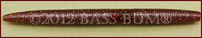 Plastic Worm - Senko Stickbait, 5 inches, Rootbeer Green Copper