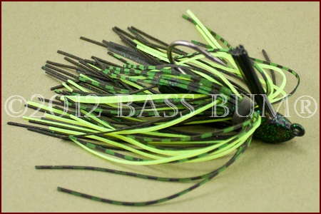 BOOYAH A-Jig - Black/Chartreuse
