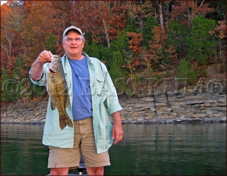 Fall Smallmouth Bass Caught Off a Bluff Wall