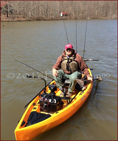 Kayak fishing catching lunkers from small fishing boats for Fishing kayak for big guys
