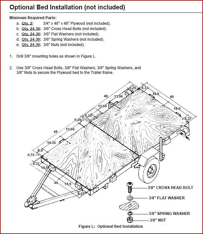 Utility Trailer Deck Plan