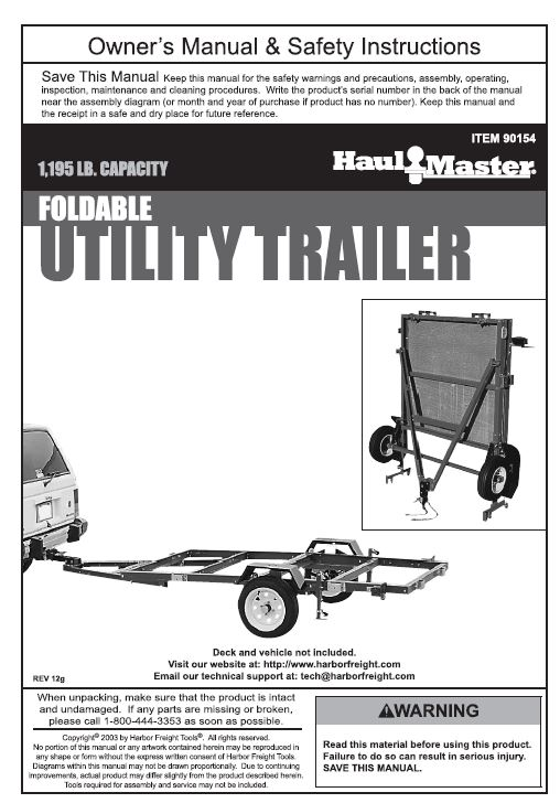 HFHaulmaster90154_508x728 a kayak trailer that doubles as a handy flatbed hauler