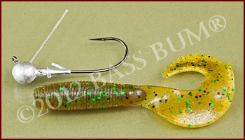 Plastic Grub and Ball Head Jig with Weedguard