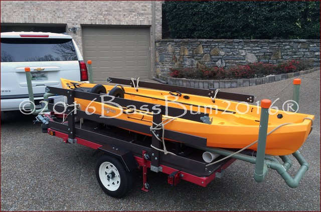 Harbor Freight DIY Kayak Trailer