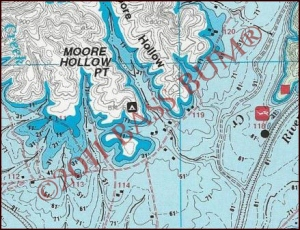 Lake Map - Moores Hollow Point