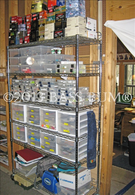 Fishing tackle gear a fishing man cave fishing tackle for Fishing rod storage ideas