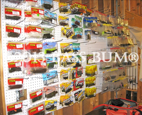 Man Cave Wall of Soft Baits