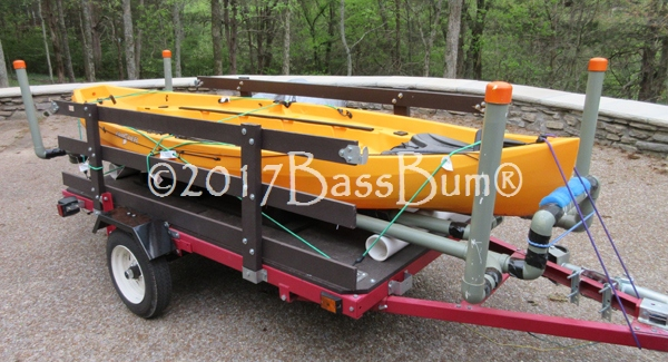 Utility Trailer Transformed Into a Kayak Trailer