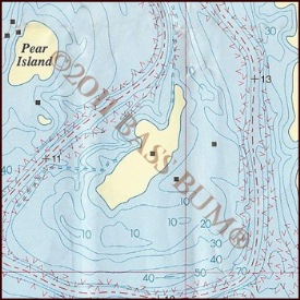 Lake Map - Pearl Island Pearcy Priest Lake
