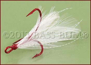 Feather dressed Sure Set Treble Hook