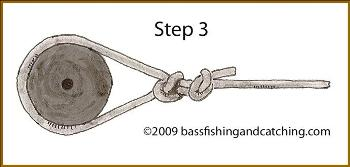 Tying an Arbor Knot Step 3