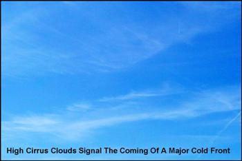Cirris Clouds Mean Cold Front On the Way