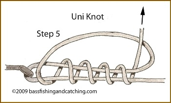Tying a Uni Knot Step 5