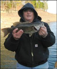 Winter Smallmouth Bass