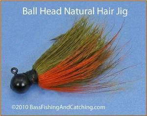 Small Round Head Natural Hair Smallmouth Jig