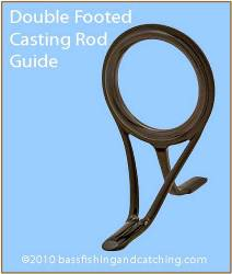 Double Footed Casting Rod Guide