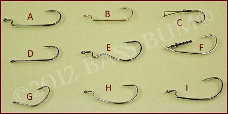 Plastic Worm Hook Variety