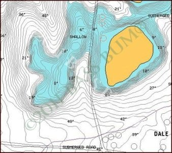 Lake Map - Navionics Digital