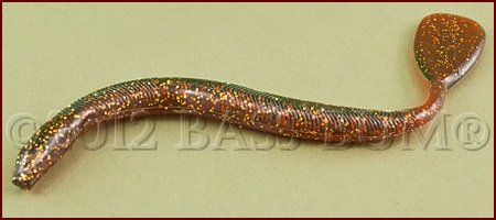 Plastic Worm - Mann Paddle Tail Worm, 7 inch