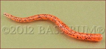 Plastic Worm - Strike King 4 inch Finesse Worm, Bama Craw
