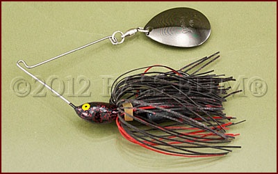 Spinnerbait Black Short Arm