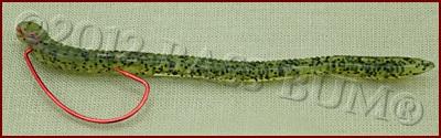 Texas Rig - Twist Hook Half Turn So Hook P{oint is Toward the Worm Body