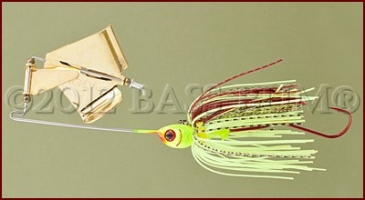 Topwater Lure-BOOYAN Buzzbait-Gold Blade-Chartreuse/Red