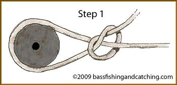 Tying an Arbor Knot Step 1