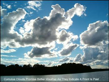 Cumulus Clouds Show Up After a Front