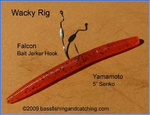 The wacky rig is the height of simplicity and effectiveness for Wacky worm fishing
